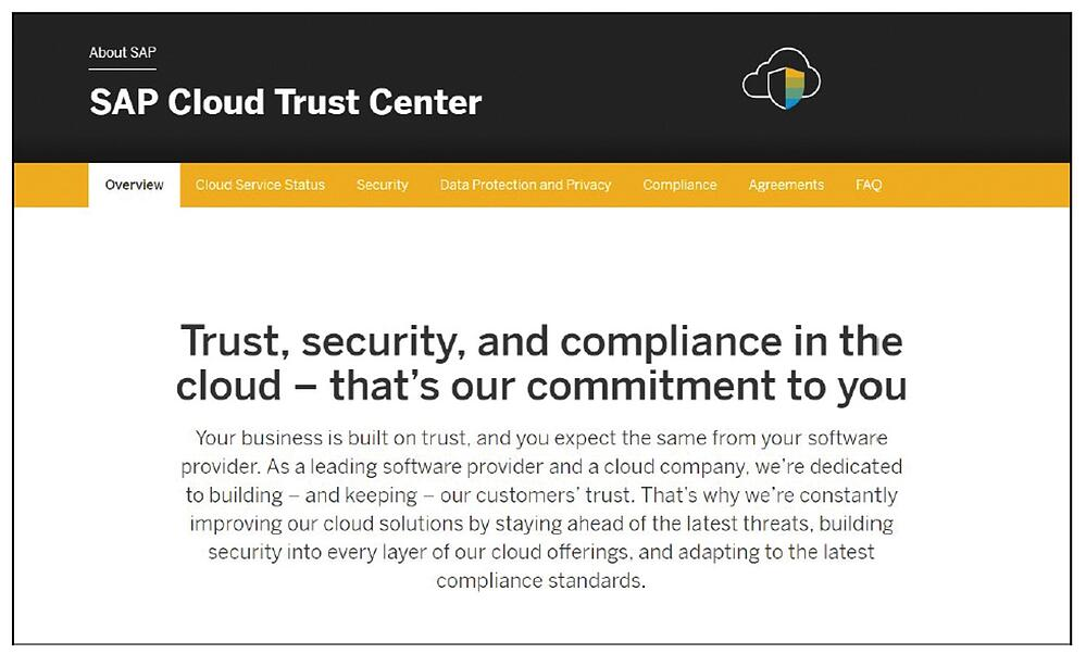 SAP Cloud Trust Center